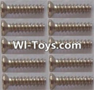 Wltoys L313 Parts-Countersunk self tapping screws(10pcs)-1.7x8KB,Wltoys L313 RC Car Spare Parts Replacement Accessories,1:10 Scale 4wd,2.4G L313 rc racing car Parts,On Road Drift Racing Truck Car Parts