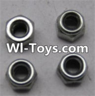 Wltoys L313 Parts-L959-65 M4 lock nut(4pcs),Wltoys L313 RC Car Spare Parts Replacement Accessories,1:10 Scale 4wd,2.4G L313 rc racing car Parts,On Road Drift Racing Truck Car Parts