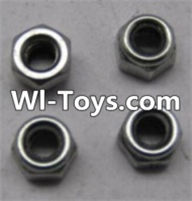 Wltoys L313 Parts-K949-108 M2.5 lock nut(4pcs),Wltoys L313 RC Car Spare Parts Replacement Accessories,1:10 Scale 4wd,2.4G L313 rc racing car Parts,On Road Drift Racing Truck Car Parts