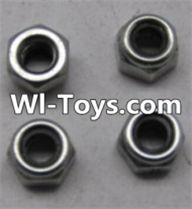 Wltoys L313 Parts-A929-95 M3 Lock nut(4pcs),Wltoys L313 RC Car Spare Parts Replacement Accessories,1:10 Scale 4wd,2.4G L313 rc racing car Parts,On Road Drift Racing Truck Car Parts