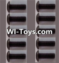 Wltoys L313 Parts-A929-75 pan head Hexagon head screws(10pcs)-M3x10TMHO,Wltoys L313 RC Car Spare Parts Replacement Accessories,1:10 Scale 4wd,2.4G L313 rc racing car Parts,On Road Drift Racing Truck Car Parts