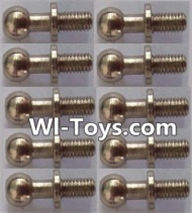 Wltoys L323 Ball head screws(10pcs)-φ4.9X13mm,Wltoys L323 RC Car Spare Parts Replacement Accessories,Wltoys 1/10 Parts