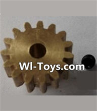 Wltoys L323 P949-26 15T Motor Gear(15 Teeth)-hole diameter 3.17mm,M-0.8,Wltoys L323 RC Car Spare Parts Replacement Accessories,Wltoys 1/10 Parts