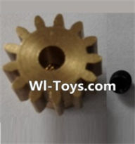 Wltoys L323 P949-27 13T Motor Gear(13 Teeth)-hole diameter 3.17mm,M-0.8,Wltoys L323 RC Car Spare Parts Replacement Accessories,Wltoys 1/10 Parts