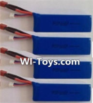 Wltoys L323 RC Battery,Lipo Battery Pack,7.4v 2500mah 25c Battery(4pcs),Wltoys L323 RC Car Spare Parts Replacement Accessories,Wltoys 1/10 Parts
