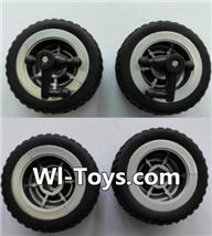 Wltoys L353 Parts-Front wheel unit(2pcs) & Rear Wheel unit(2pcs),Wltoys L353 1/24 Rc Car Spare Parts Replacement Accessories