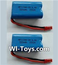 Wltoys L353 Parts-Lipo Batteries,6.4V Battery,6.4V Lithium-iron battery(2pcs),Wltoys L353 1/24 Rc Car Spare Parts Replacement Accessories