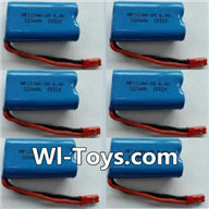 Wltoys L353 Parts-RC Batteries,6.4V Battery,6.4V Lithium-iron battery(6pcs),Wltoys L353 1/24 Rc Car Spare Parts Replacement Accessories