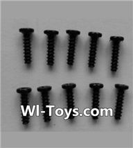 Wltoys L353 Parts-Round head self-tapping screws(10pcs)-M2X8,Wltoys L353 1/24 Rc Car Spare Parts Replacement Accessories