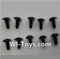 Wltoys L353 Parts-Round head self-tapping screws with mediator(10pcs)-M2X6-mediator 5,Wltoys L353 1/24 Rc Car Spare Parts Replacement Accessories