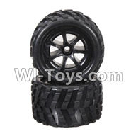 Wltoys L979 L222 parts-Front Tire(2pcs),WLtoys L979 1:18 rc Drift Car Spare Parts desert Off Road Buggy parts