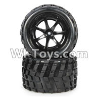Wltoys L979 L222 parts-RC Buggy Rear Tire(2pcs),WLtoys L979 1:18 rc Drift Car Spare Parts desert Off Road Buggy parts
