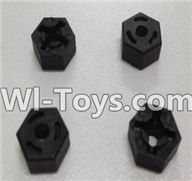 Wltoys L979 L222 parts-Hexagon Wheel Seat(4pcs),WLtoys L979 1:18 rc Drift Car Spare Parts desert Off Road Buggy parts