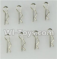 Wltoys L979 L222 parts-R-Clips,Body Shell Pin(8pcs),WLtoys L979 1:18 rc Drift Car Spare Parts desert Off Road Buggy parts