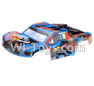 Wltoys L979 L222 parts-Body Shell Cover,Car Canopy,Car shell-Blue,WLtoys L979 1:18 rc Drift Car Spare Parts desert Off Road Buggy parts