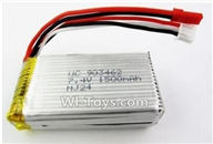 Wltoys L979 parts-Battery Parts,7.4v 1500mah Lipo battery with JST Plug(Can only be Used for L979)