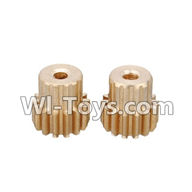 Wltoys L979 L222 parts-Motor Gear 14T(2pcs),WLtoys L979 1:18 rc Drift Car Spare Parts desert Off Road Buggy parts