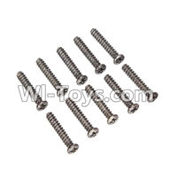 Wltoys L979 L222 parts-Round Head Screw 2.6x14mm(10pcs),WLtoys L979 1:18 rc Drift Car Spare Parts desert Off Road Buggy parts