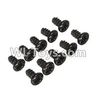 Wltoys L979 L222 parts-Round Head Screw Set 1.8x3mm(10pcs),WLtoys L979 1:18 rc Drift Car Spare Parts desert Off Road Buggy parts