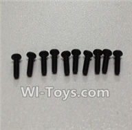 Wltoys L979 L222 parts-Socket Head Screw 2x6mm(2pcs),WLtoys L979 1:18 rc Drift Car Spare Parts desert Off Road Buggy parts
