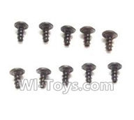 Wltoys L979 L222 parts-Round Head Scre PWA 2.6x4mm Screw(10pcs),WLtoys L979 1:18 rc Drift Car Spare Parts desert Off Road Buggy parts