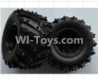 Wltoys P949 Parts-02 P949-02 Rear Wheel unit(2pcs),Wltoys P949 RC Tractor Car Spare Parts Replacement Accessories,1:10 Scale 4wd P949 RC Tractor Truck parts,RC Tractor Racing car Parts