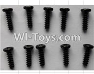 Wltoys P949 Parts-25 P949-25 Round Head self-tapping Screws(10pcs)-M3X10,Wltoys P949 RC Tractor Car Spare Parts Replacement Accessories,1:10 Scale 4wd P949 RC Tractor Truck parts,RC Tractor Racing car Parts
