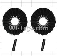 Wltoys P949 Parts-51 K949-44 Reduction gear with shaft(2pcs),Wltoys P949 RC Tractor Car Spare Parts Replacement Accessories,1:10 Scale 4wd P949 RC Tractor Truck parts,RC Tractor Racing car Parts