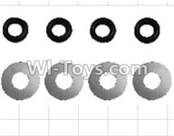 Wltoys P949 Parts-53 K949-70 Flat washer(8pcs),Wltoys P949 RC Tractor Car Spare Parts Replacement Accessories,1:10 Scale 4wd P949 RC Tractor Truck parts,RC Tractor Racing car Parts