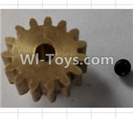 Wltoys P959 Parts-P949-26 15T Motor gear set,Wltoys P959 RC Truck Car Spare Parts Replacement Accessories,1:10 Scale 4wd P959 RC Truck parts,RC Tractor Racing car Parts