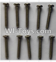 Wltoys P959 Parts-P949-29 Round Head self-tapping Screws(10pcs)-M3X18,Wltoys P959 RC Truck Car Spare Parts Replacement Accessories,1:10 Scale 4wd P959 RC Truck parts,RC Tractor Racing car Parts