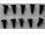 Wltoys P959 Parts-P949-35 Round Head self-tapping Screws(10pcs)-M3X7,Wltoys P959 RC Truck Car Spare Parts Replacement Accessories,1:10 Scale 4wd P959 RC Truck parts,RC Tractor Racing car Parts