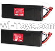 Wltoys P959 Parts-P949-42 7.4v 2500mah Battery(2pcs),Wltoys P959 RC Truck Car Spare Parts Replacement Accessories,1:10 Scale 4wd P959 RC Truck parts,RC Tractor Racing car Parts