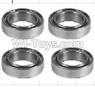 Wltoys P959 Parts-K939-52 Roller bearings 10X15X4mm(4pcs),Wltoys P959 RC Truck Car Spare Parts Replacement Accessories,1:10 Scale 4wd P959 RC Truck parts,RC Tractor Racing car Parts