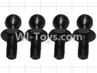 Wltoys P959 Parts-K949-73 4.8 Ball head screws(4pcs),Wltoys P959 RC Truck Car Spare Parts Replacement Accessories,1:10 Scale 4wd P959 RC Truck parts,RC Tractor Racing car Parts