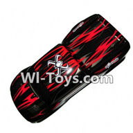 XinleHong Toys 9116 Parts-Body Shell-Car canopy,Shell cover-Red Parts-SJ01,XinleHong Toys 9116 RC Monster Truck Spare parts