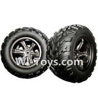 XinleHong Toys 9116 Parts-The Left and Right Wheel(Total 2pcs) Parts-ZJ01,XinleHong Toys 9116 RC Monster Truck Spare parts