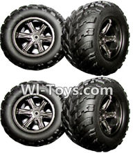 XinleHong Toys 9116 Parts-The Left and Right Wheel(Total 4pcs) Parts-ZJ01,XinleHong Toys 9116 RC Monster Truck Spare parts