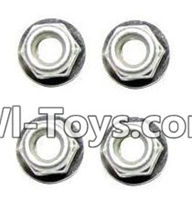 XinleHong Toys 9116 Parts-Screws-Anti-loose Screw nut(4pcs) Parts-WJ02,XinleHong Toys 9116 RC Monster Truck Spare parts