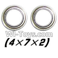 XinleHong Toys 9116 Parts-Bearing-4x7x2mm-2pcs Parts-WJ08,XinleHong Toys 9116 RC Monster Truck Spare parts