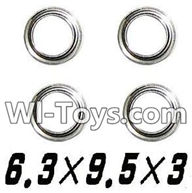 XinleHong Toys 9116 Parts-Bearing-6.3x9.5x3mm-4pcs Parts-WJ09,XinleHong Toys 9116 RC Monster Truck Spare parts
