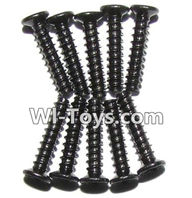 XinleHong Toys 9116 Parts-Screws-Countersunk head screws(M2x10)-10PCS Parts-LS02,XinleHong Toys 9116 RC Monster Truck Spare parts