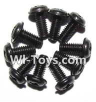 XinleHong Toys 9116 Parts-Screws-Round head screws with meson(M2.5x6x5)-10PCS Parts-LS14,XinleHong Toys 9116 RC Monster Truck Spare parts