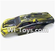 XinleHong Toys 9116 Parts-Body Shell-Car canopy,Shell cover Parts-Yellow-SJ02,XinleHong Toys 9116 RC Monster Truck Spare parts