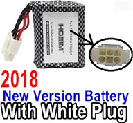 XinleHong Toys 9116 Parts-Battery Akku-2018 New version 9.6V 800MAH Battery with 6-Wire White color plug Parts,XinleHong Toys 9116 RC Monster Truck Spare parts