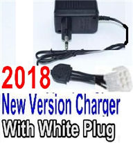 XinleHong Toys 9116 Parts-Charger-2018 New version Charger-US Converter Socket with 6-Wire White Plug Parts,XinleHong Toys 9116 RC Monster Truck Spare parts