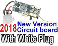XinleHong Toys 9116 Parts-Receiver-2018 New version Circuit board with 6-Wire White Plug Parts,XinleHong Toys 9116 RC Monster Truck Spare parts