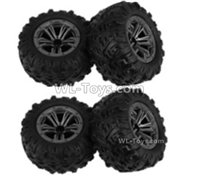 Hosim 9135 Parts-Whole wheel unit(2pcs)-QZJ02,Hosim 9135 RC Car Parts
