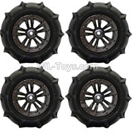 XinLeHong Toys 9138 Parts-Anti-sand RC Wheel Tires-85mm-4 set-QZJ02,XinLeHong Toys 9138 RC Car Parts