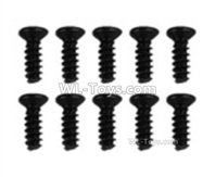 Hosim 9156 Parts-LS04 Flat head screw(10pcs)-2.6x6PBHO,Hosim 9156 RC Car Parts